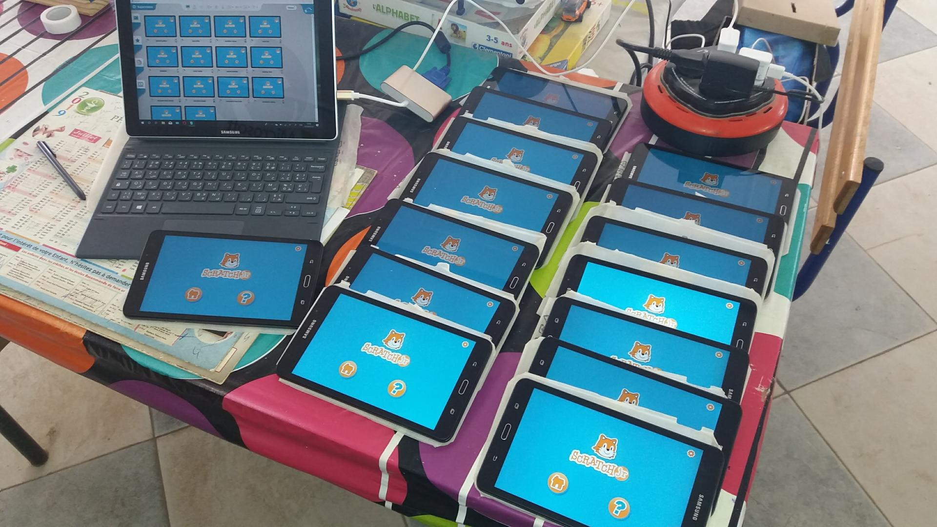 Usage des tablettes tactiles